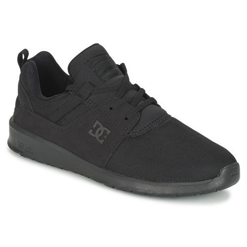 DC Shoes HEATHROW M SHOE 3BK Noir - Livraison Gratuite avec - Chaussures Baskets basses Homme