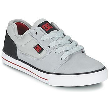 Chaussures Garçon Baskets basses DC Shoes TONIK B SHOE XSKR Gris / Noir / Rouge