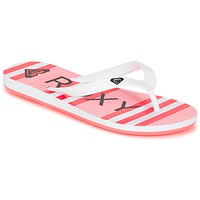 Chaussures Fille Tongs Roxy RG TAHITI V G SNDL WBD Blanc / Noir / Rouge