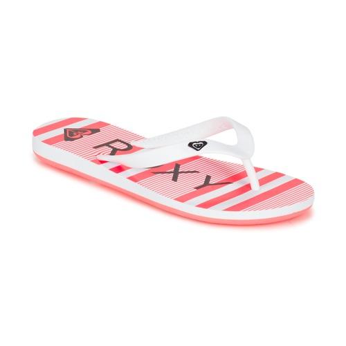 Chaussures Fille Tongs Roxy RG TAHITI V G SNDL WBD Blanc / Noir / Rose