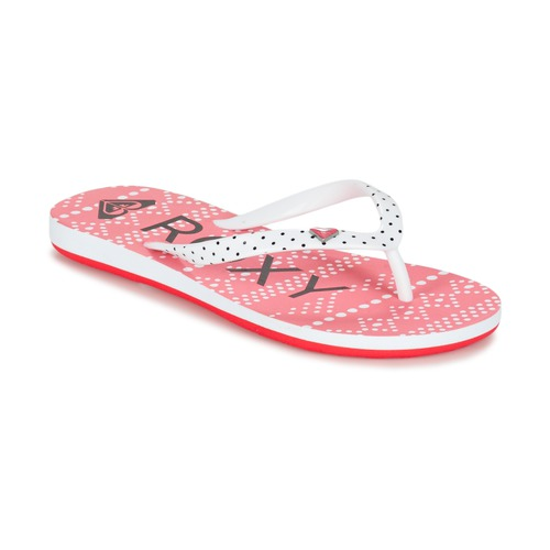 Chaussures Fille Tongs Roxy RG PEBBLES V G SNDL BRE Rouge / Blanc / Noir
