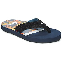 Chaussures Enfant Tongs Quiksilver BASIS-YT B SNDL XBWN Noir / Bleu / Orange
