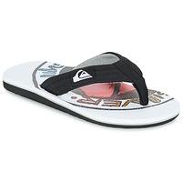 Chaussures Enfant Tongs Quiksilver MOLOKAI LAYBACK Noir / Blanc / Rouge