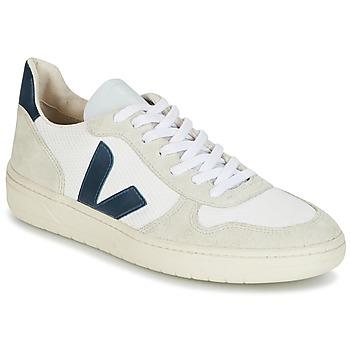 Chaussures Homme Baskets basses Veja V-10 Blanc / Bleu