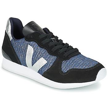 Chaussures Femme Baskets basses Veja HOLIDAY LOW TOP Noir / Bleu / Argenté