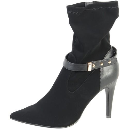 Chaussures Femme Bottines The Divine Factory Bottine Lamy Noir Noir