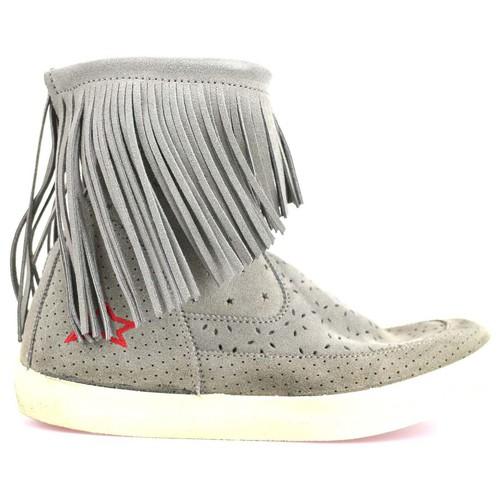 Chaussures Femme Bottines Ishikawa chaussures femme  bottines beige daim AM662 beige