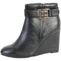 Chaussures Femme Bottines The Divine Factory Bottine  TDF2734 Noir Noir