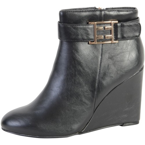 Chaussures Femme Bottines The Divine Factory Bottine  Noir Noir
