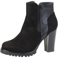 Chaussures Femme Bottines The Divine Factory Bottine  TDF2750 Noir Noir
