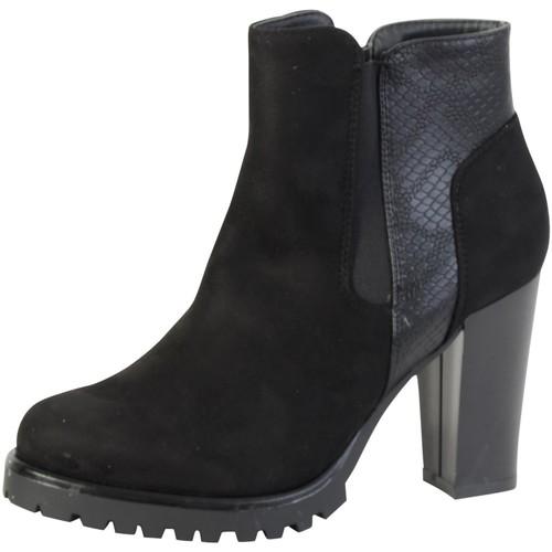 Chaussures Femme Bottines The Divine Factory Bottine  Noir Noir