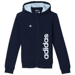 Vêtements Fille Sweats adidas Originals Veste à capuche fille essential linéar navy Marine