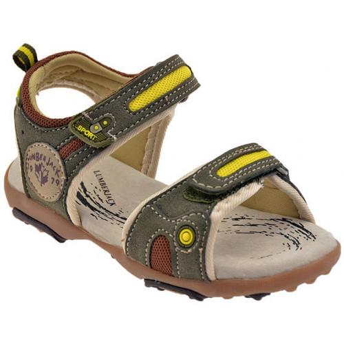 Chaussures Enfant Sandales et Nu-pieds Lumberjack Free Kids Sandales Vert