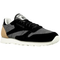 Chaussures Homme Baskets basses Reebok Sport CL Leather Fleck Gris-Noir