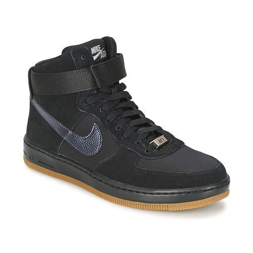 Chaussures Femme Baskets montantes Nike W AF1 ULTRA FORCE MID Noir / Argent