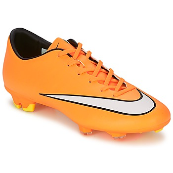 Chaussures Homme Football Nike MERCURIAL VICTORY V FG Orange / Blanc