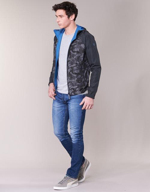 Miracola Blousons Jeans Gris Armani Homme 54Rj3AL