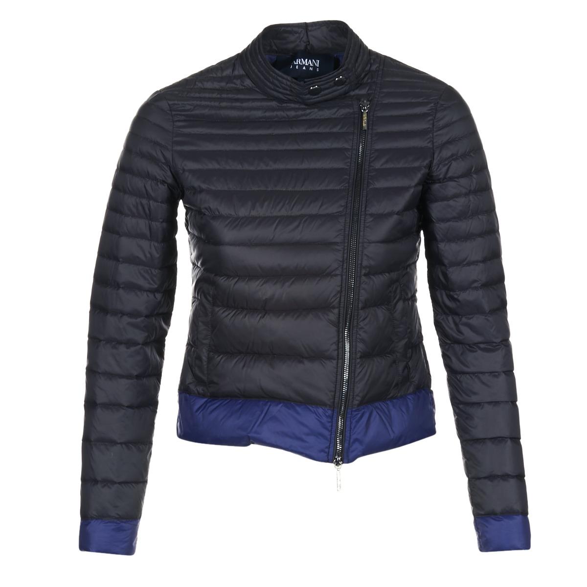 Armani jeans BEAUJADO Noir   Bleu - Livraison Gratuite avec Spartoo.com ! -  Vêtements Doudounes Femme 297,00 € f385fd7ec46