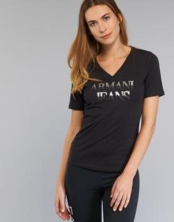 Vêtements Femme T-shirts manches courtes Armani jeans JAGONA Noir