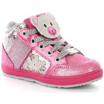 Chaussures Enfant Baskets basses Lelli Kelly 6402 Basket Fille Fuchsia Glitter Fuchsia Glitter