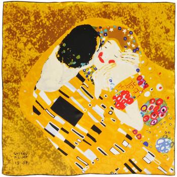 Accessoires textile Femme Echarpes / Etoles / Foulards Silkart Carré de soie  Gustav Klimt Baiser - 85x85 cm jaune
