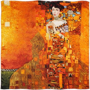 Accessoires textile Femme Echarpes / Etoles / Foulards Silkart Carré de soie  Gustav Klimt Portrait d'Adèle 5