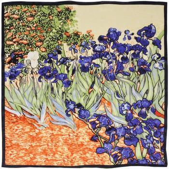 Accessoires textile Femme Echarpes / Etoles / Foulards Silkart Carré de soie  Van Gogh Iris - 85x85 cm violet