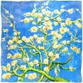 Silkart Carré de soie  Van Gogh Amandiers en fleurs - 85x85 cm