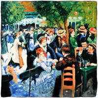 Echarpes / Etoles / Foulards Silkart Carré de soie  Auguste Renoir Bal au moulin la Galette