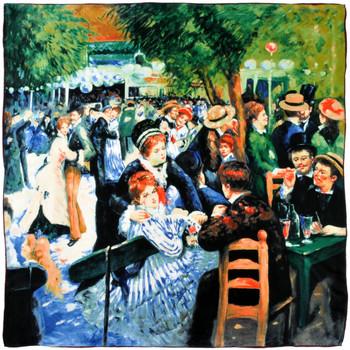 Accessoires textile Femme Echarpes / Etoles / Foulards Silkart Carré de soie  Auguste Renoir Bal au moulin la Galette 5