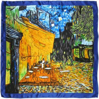 Accessoires textile Femme Echarpes / Etoles / Foulards Silkart Carré de soie  Van Gogh Café de nuit - 85x85 cm Bleu