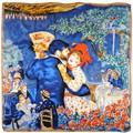 Silkart Carré de soie  Auguste Renoir Danse à la campagne - 85x85 cm