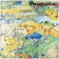 Silkart Carré de soie  Hommage à Van Gogh - 85x85 cm