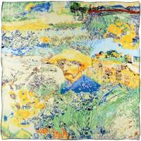 Accessoires textile Femme Echarpes / Etoles / Foulards Silkart Carré de soie  Hommage à Van Gogh 5