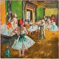 Silkart Carré de soie  Edgar Degas La classe de danse - 85x85 cm