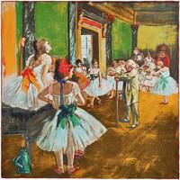 Accessoires textile Femme Echarpes / Etoles / Foulards Silkart Carré de soie  Edgar Degas La classe de danse - 85x85 cm multicolore