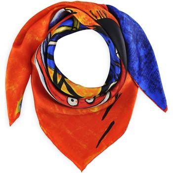 Accessoires textile Femme Echarpes / Etoles / Foulards Silkart Carré de soie  Van Gogh Bateaux de pêche - 85x85 cm orange