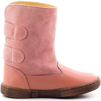 Chaussures Fille Bottines Boni Classic Shoes Boni Ange - Bottes enfant cuir scratch Rose