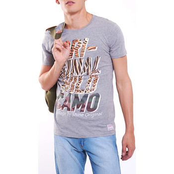 Vêtements Homme T-shirts manches courtes Shine Paris Tee Shirt  Altero Gris Chine Homme Gris