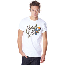 Vêtements Homme T-shirts manches courtes Cityfellaz Tee Shirt  Art Marble Check Blanc Homme Blanc