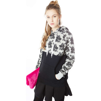 Sweat-Shirt Cityfellaz sweat shirt 2 tone flowers noir femme