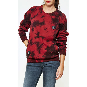 Sweat-Shirt Cityfellaz sweat shirt bordeaux dye patch bordeaux femme