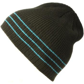Accessoires textile Homme Bonnets Dandytouch Bonnet tricot kaki rayures bleues kaki