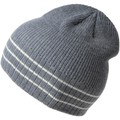 Dandytouch Bonnet tricot gris rayures blanches