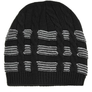 Accessoires textile Homme Bonnets Dandytouch Bonnet court torsade et ruban noir noir