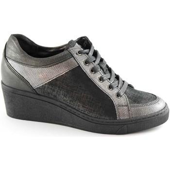 Chaussures Femme Baskets basses Grunland Grünland CURI SC2062 chaussures gris dentelle femme zeppetta sem Grigio