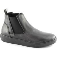 Chaussures Femme Boots Grunland Grünland NIQU PO1606 Les chaussures noires milieu beatles élasti Nero