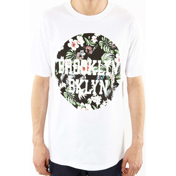 T-shirts manches courtes Brooklyn Tee Shirt  Badge Blanc Homme