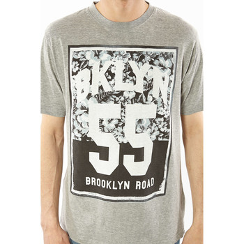Vêtements Homme T-shirts manches courtes Brooklyn Tee Shirt  Fifty Five Gris Chine Homme Gris