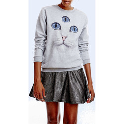 Vêtements Femme Sweats Wowch Sweat Shirt  Third Eye Gris Femme Gris